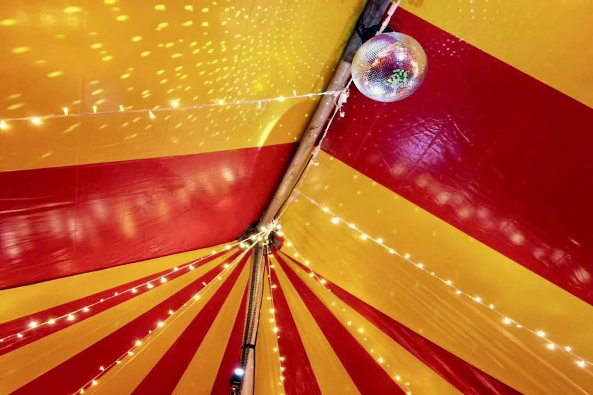 Fairy lighting in tent