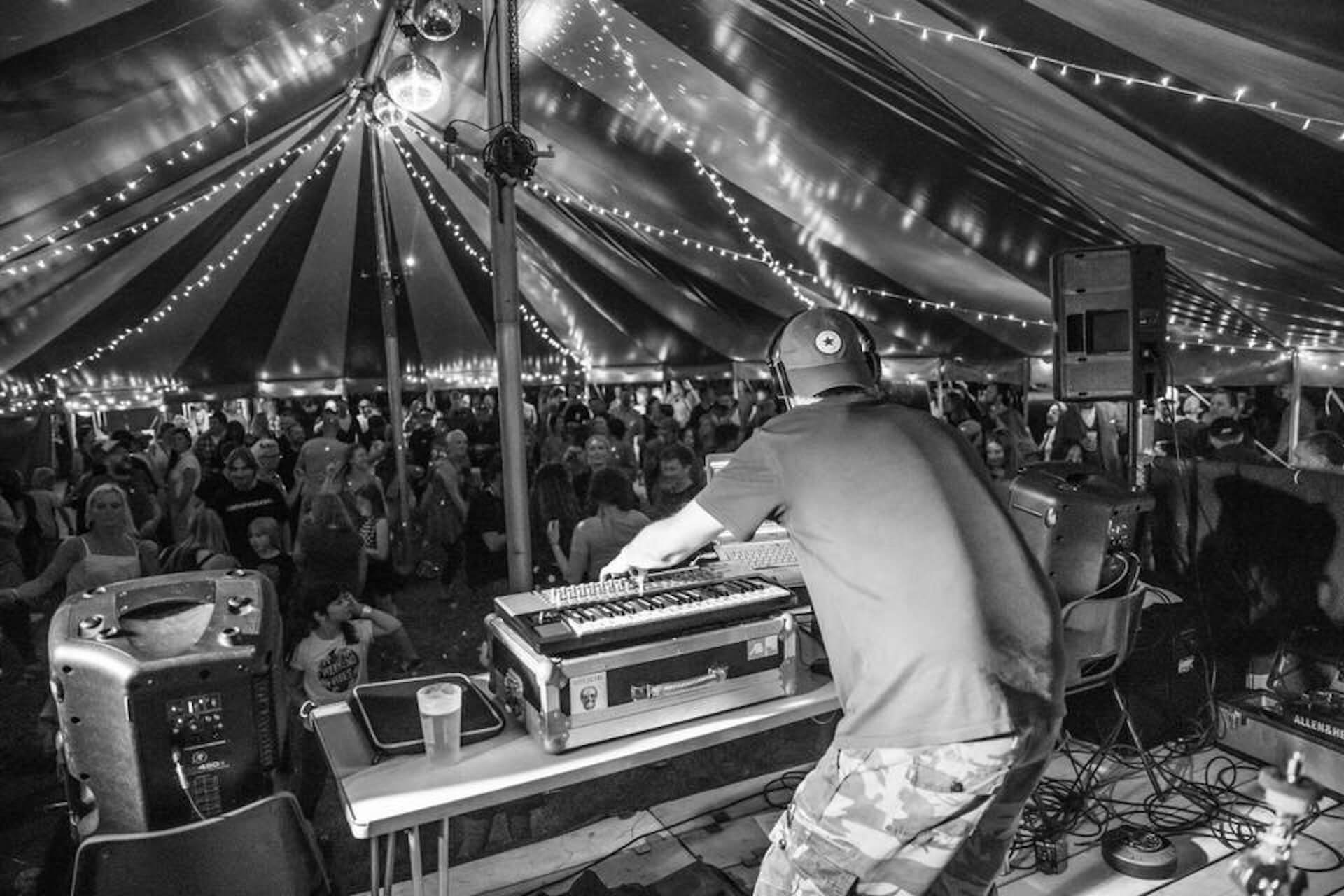 Dance tent at Devon festival