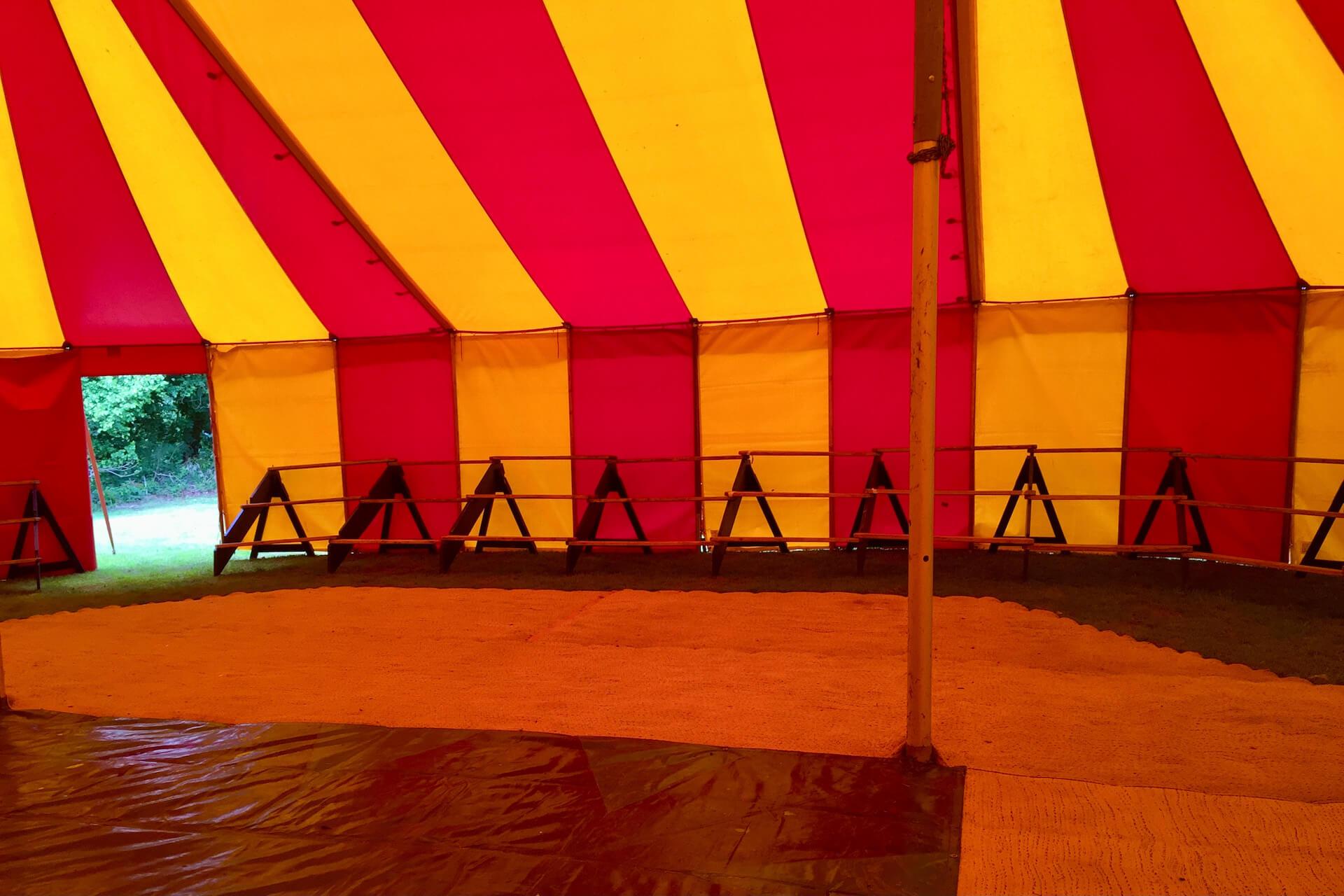 Vintage circus seating