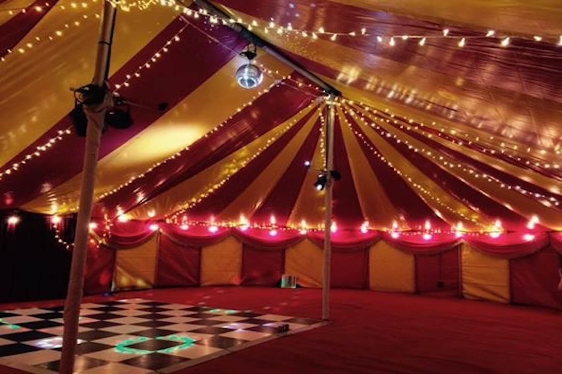 Very pretty colourful party marquee