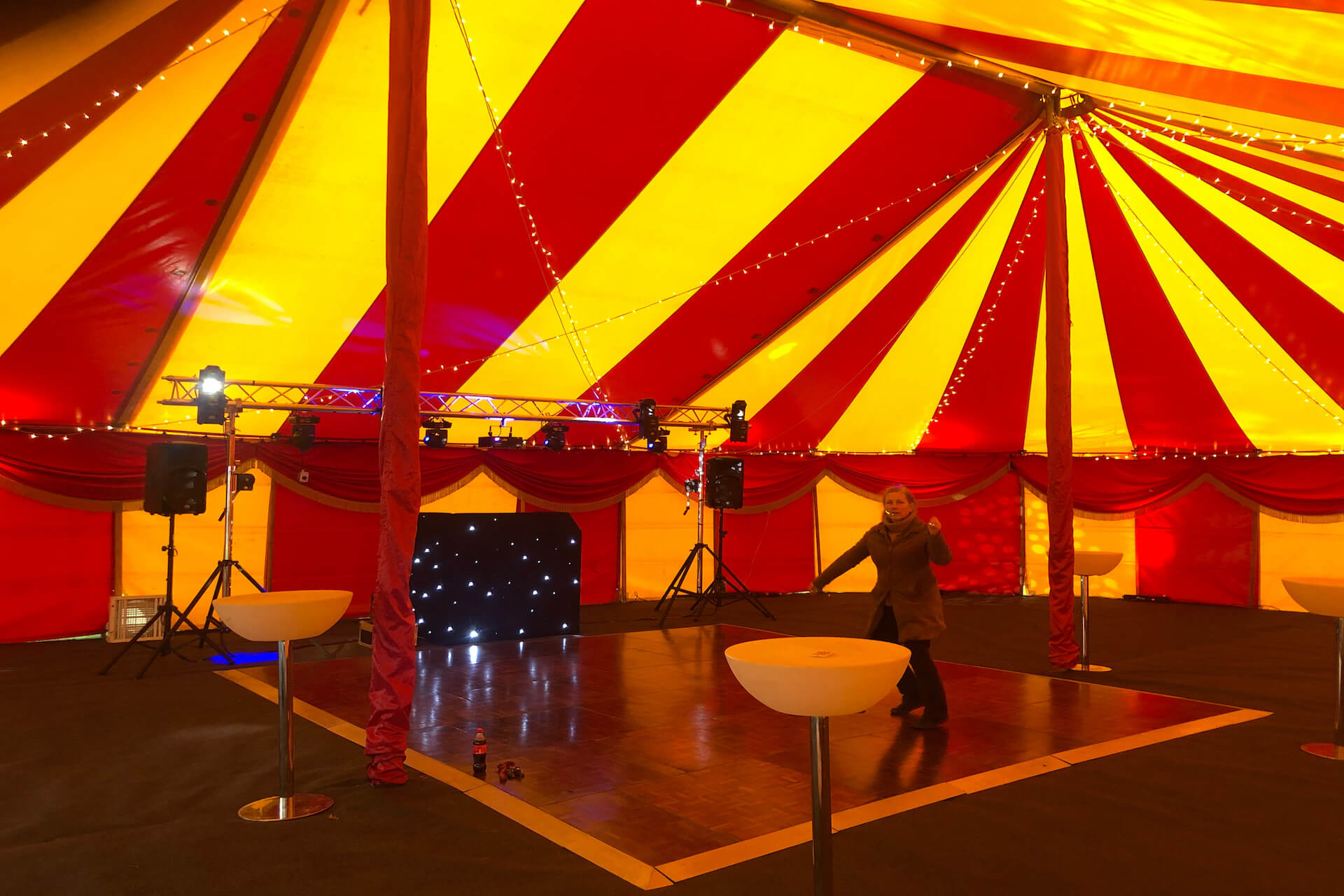 Disco in a marquee