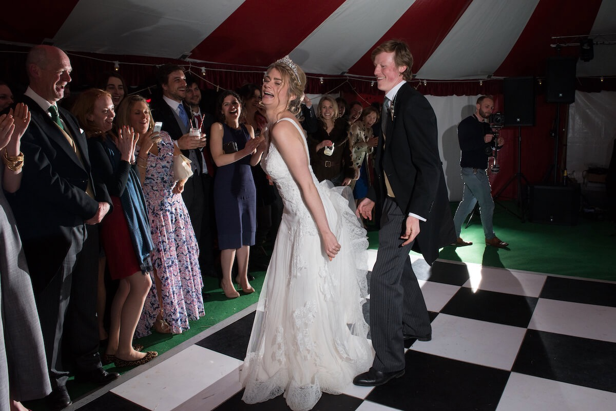 The first dance at a big-top wedding Wedfest.