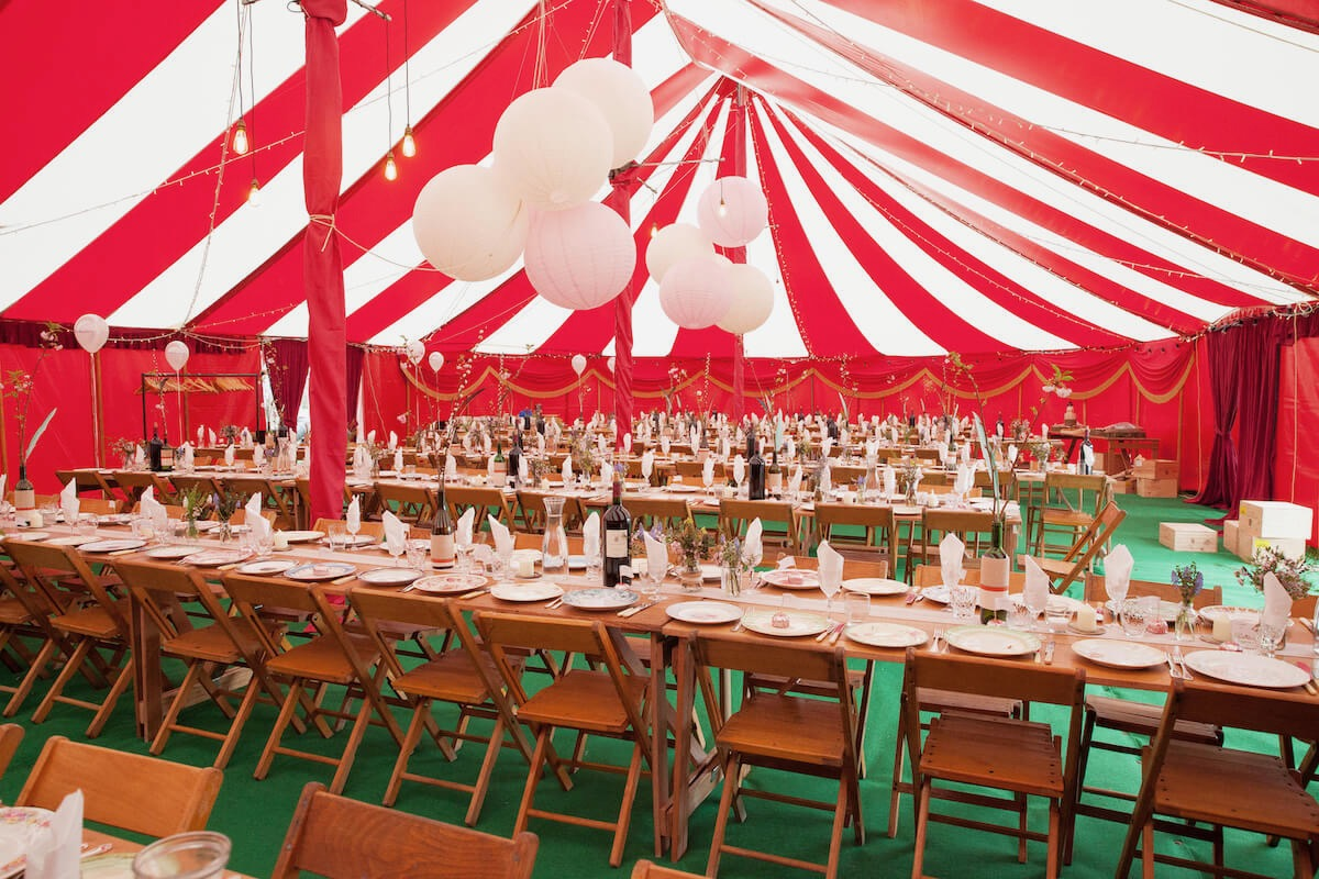Best circus tent wedding breakfast