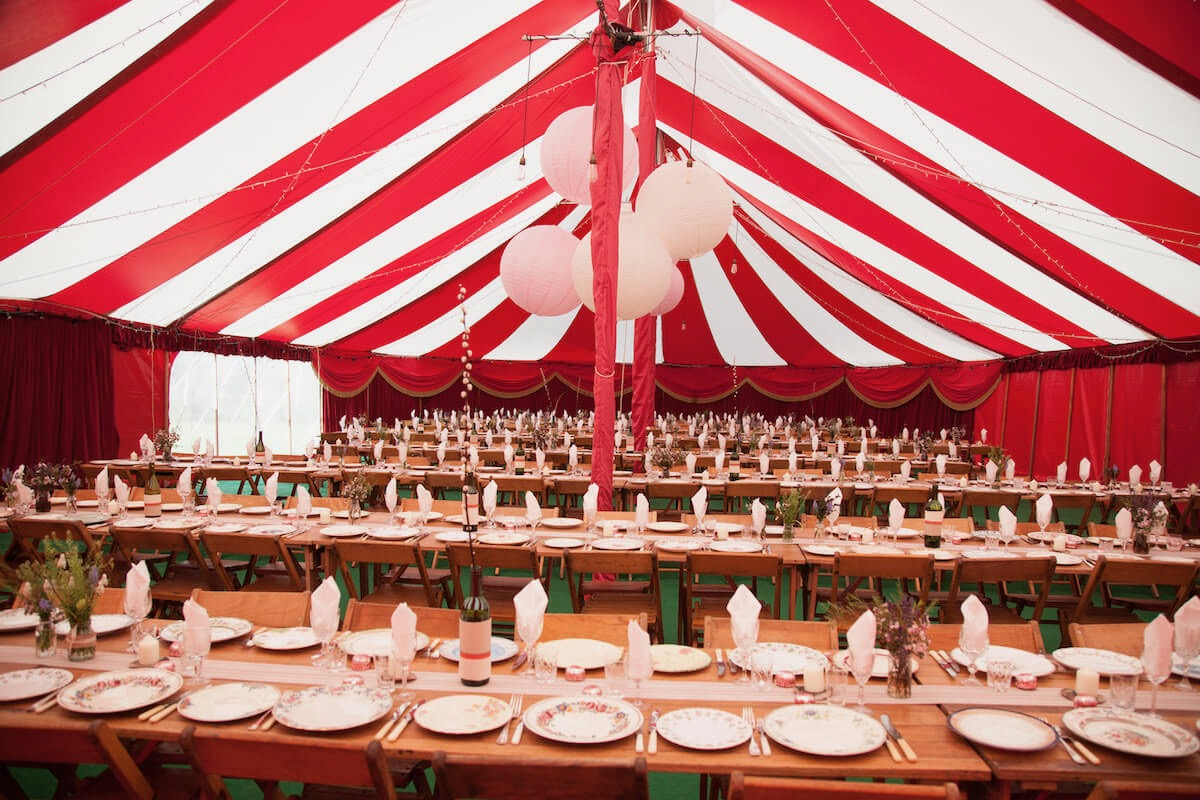 Best circus marquee vintage table decorations wedding breakfast
