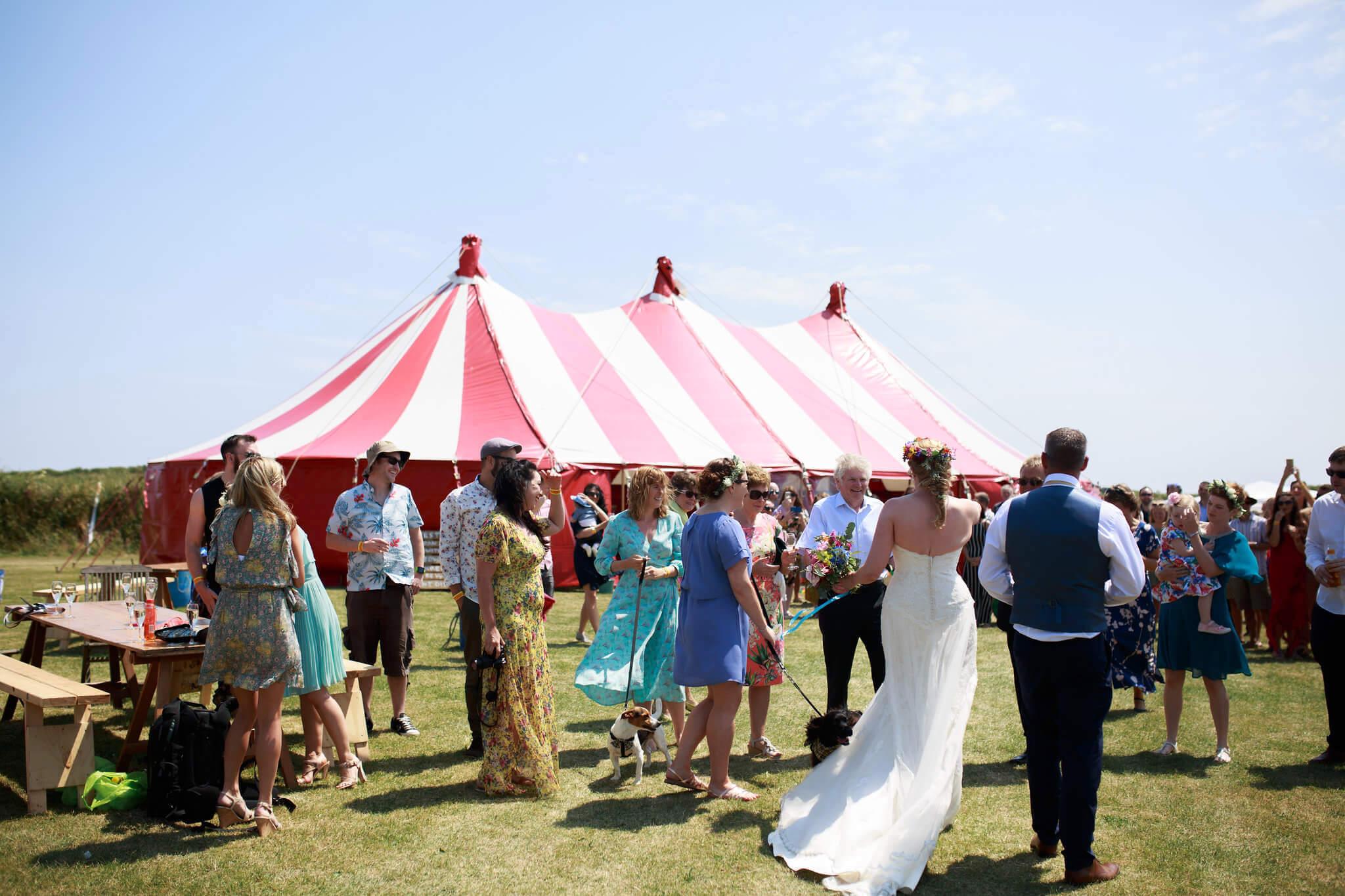 Kernow weddings marquee hire, big-top hire, circus tent rentals