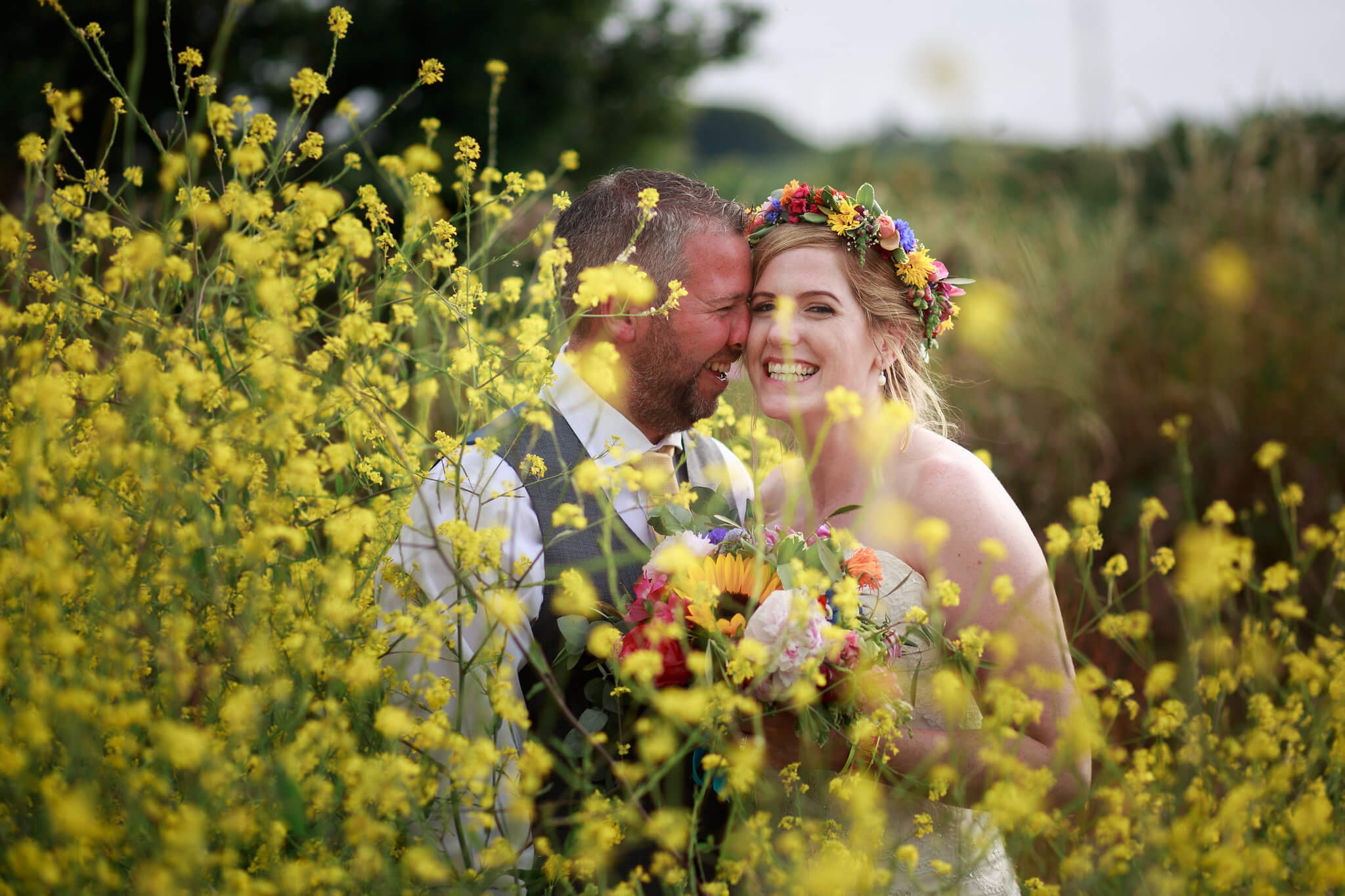 Floral wedding photography in Cornwall
