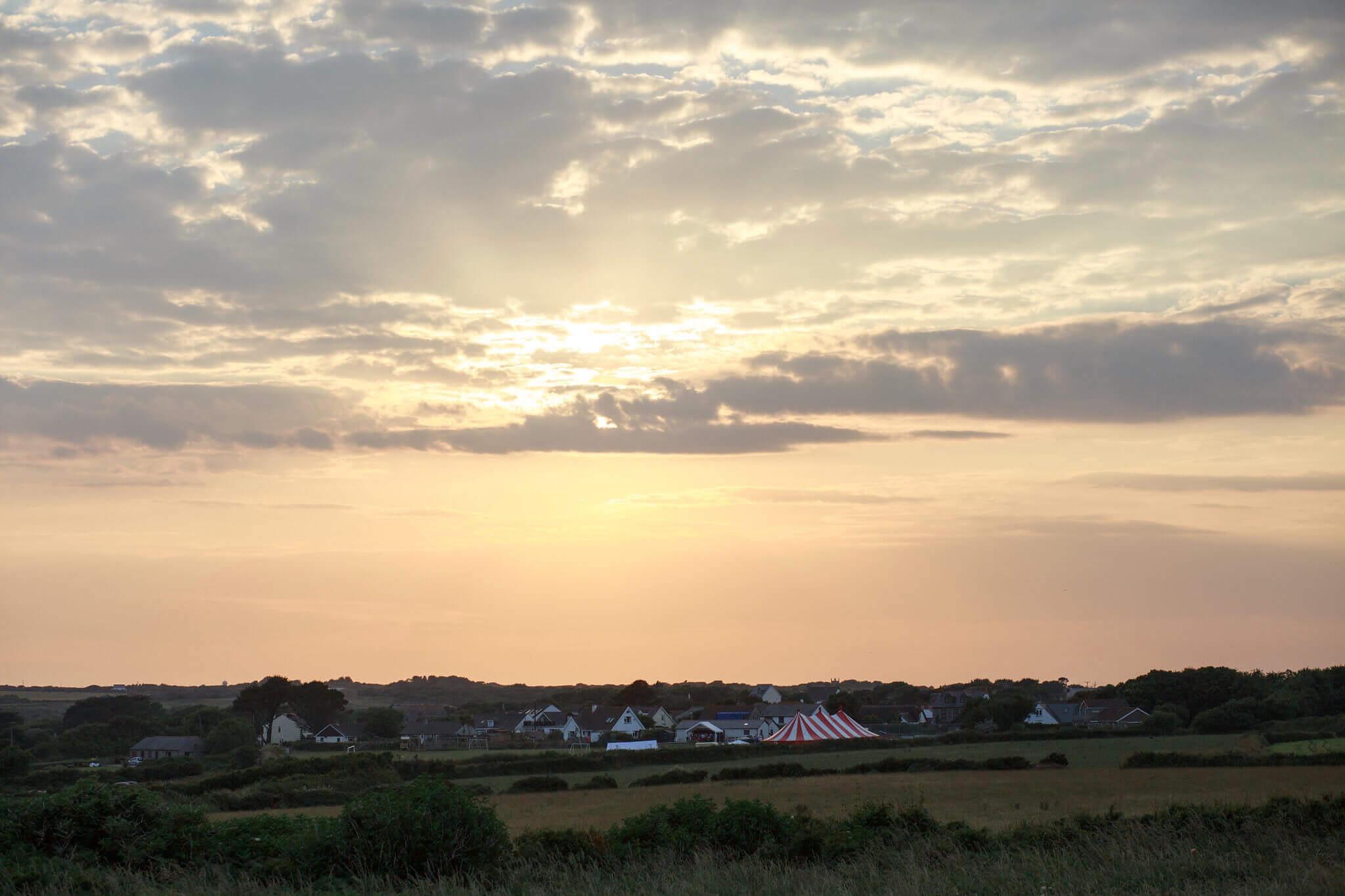 Cornish wedding sunset landscape photography