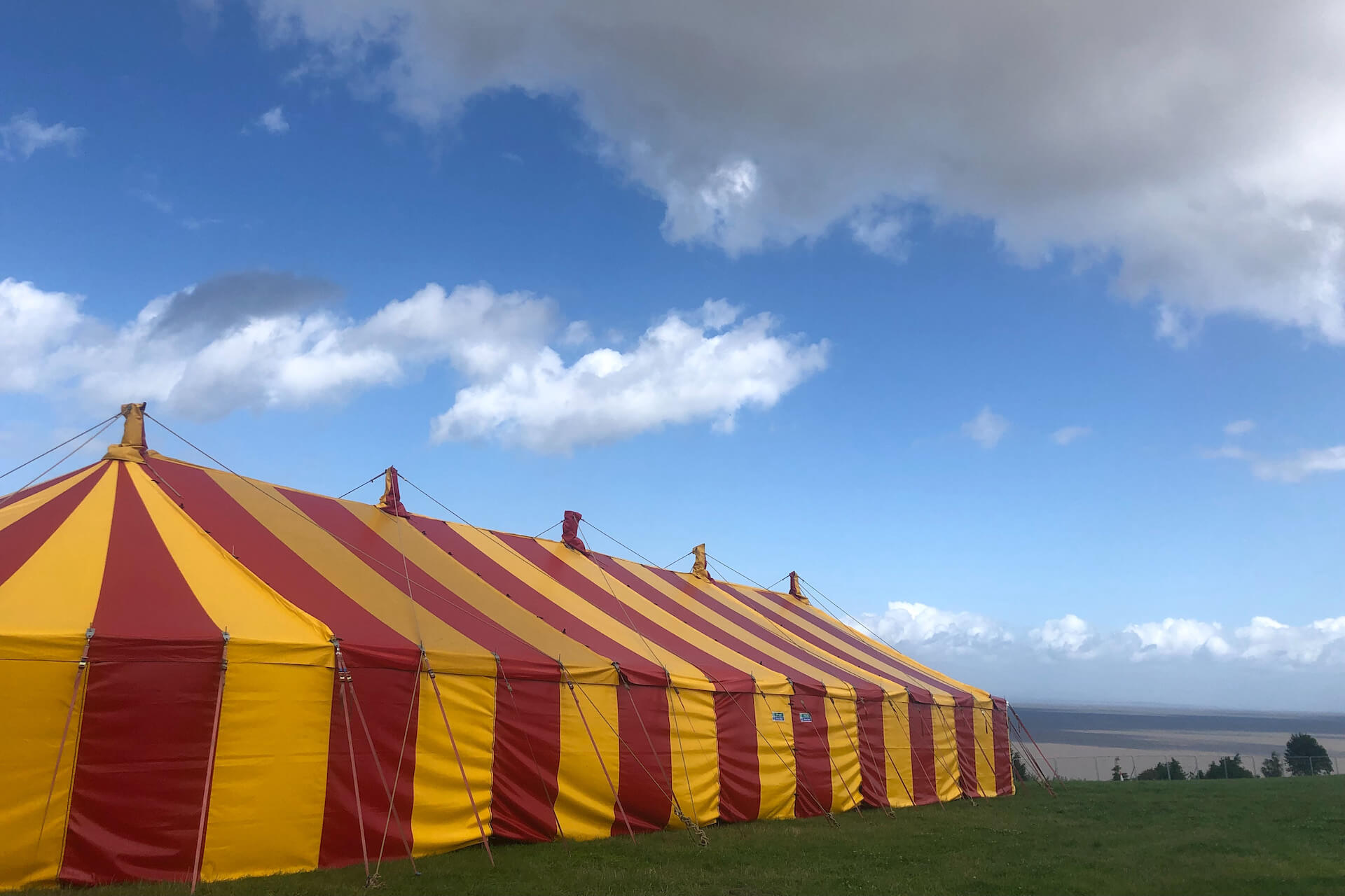 Big beautiful marquee for music venue