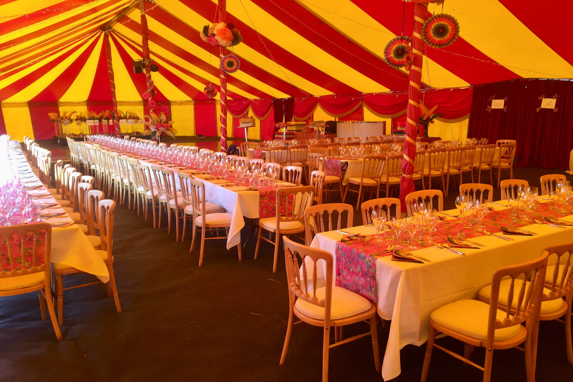 large private dinner party marquee
