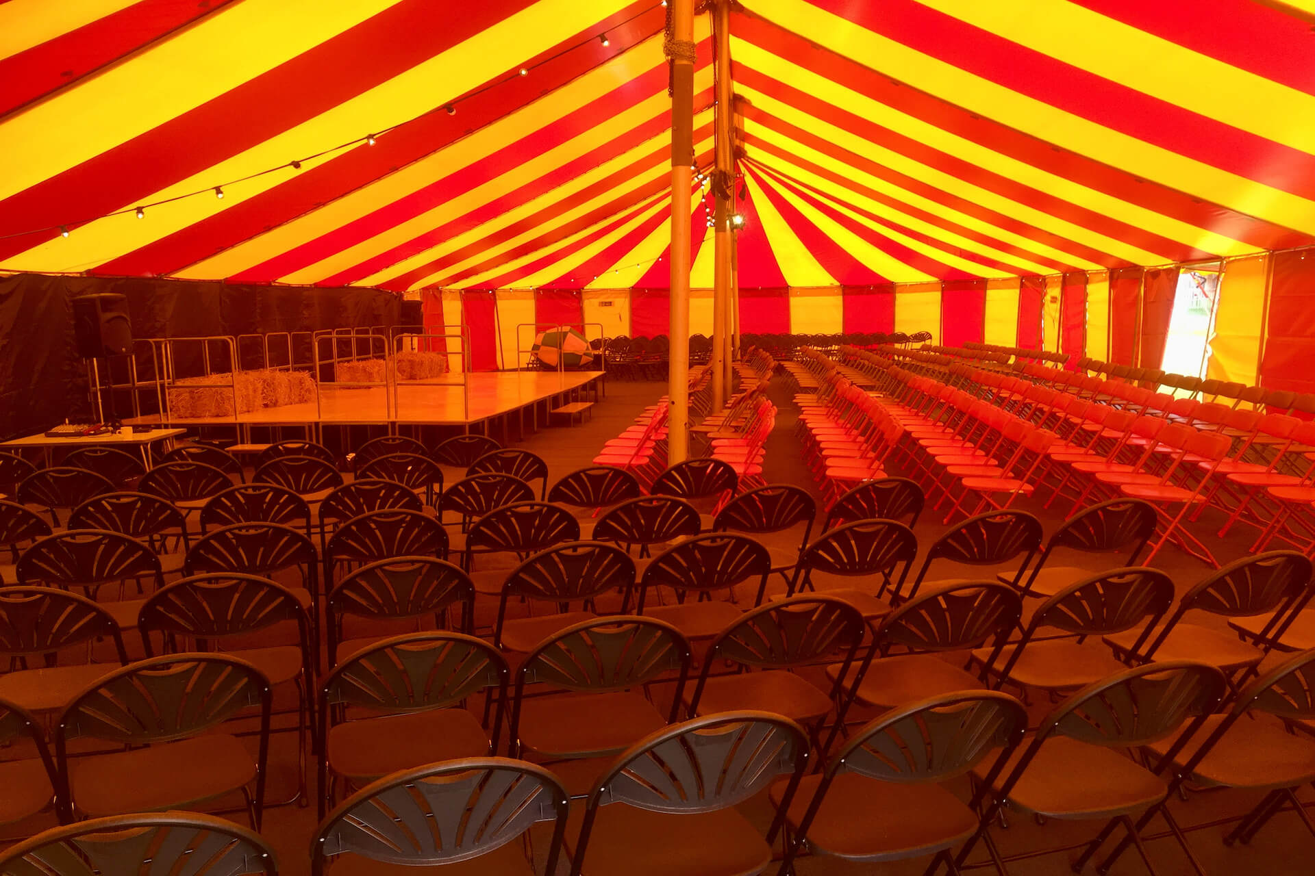 school event supplier with Marquee seating 400 theatre  audience
