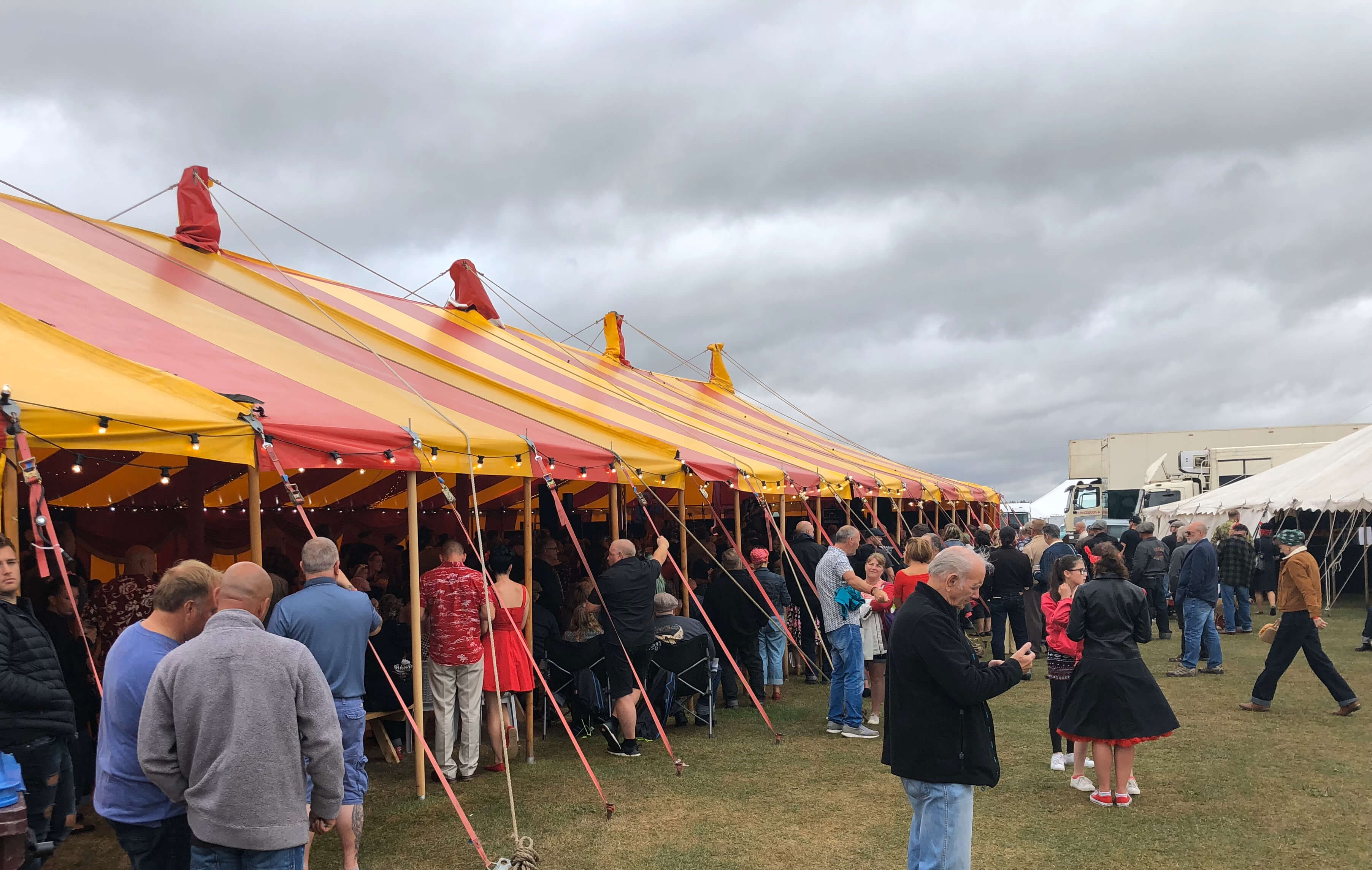40ft x  120ft circus tent for hire Devon