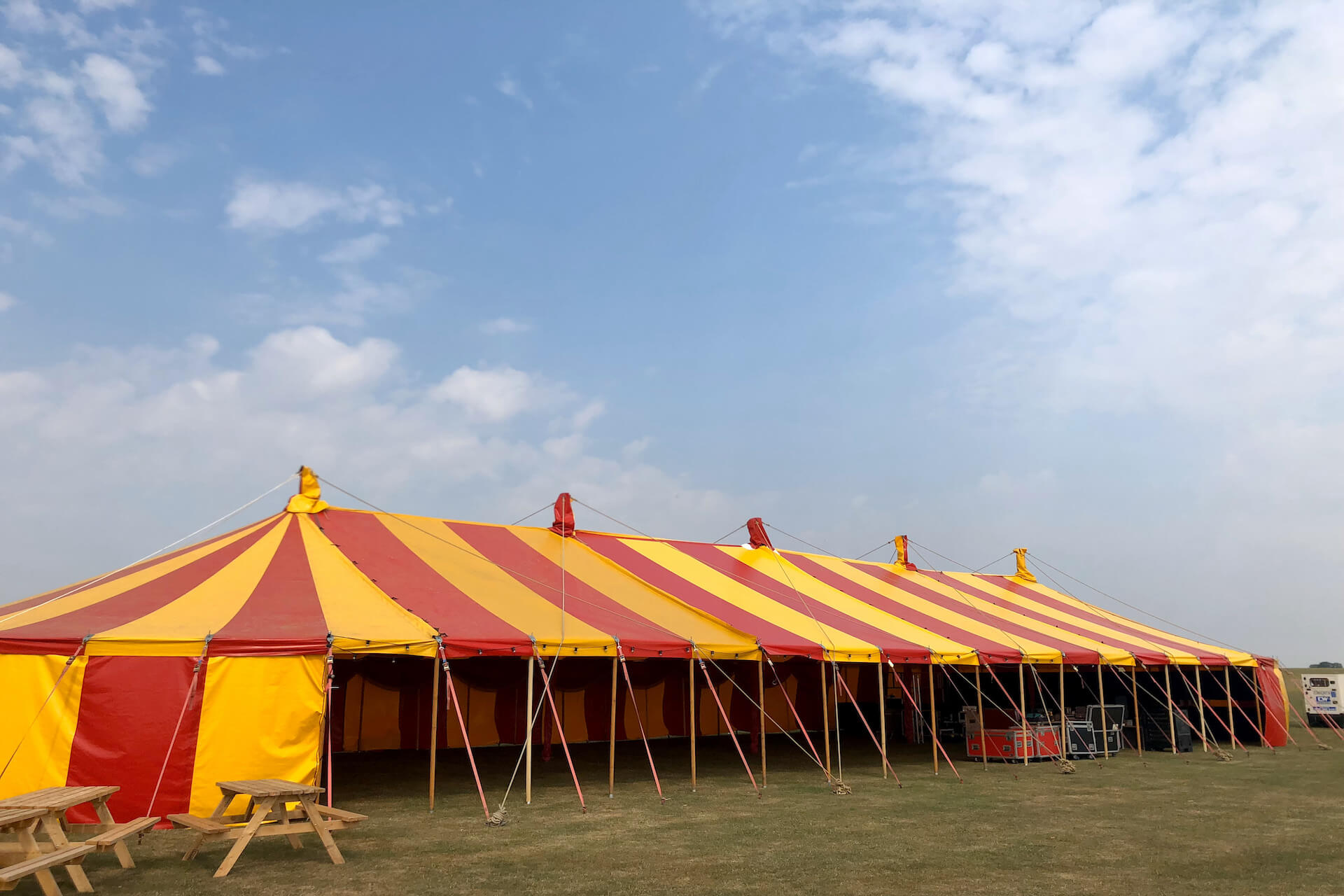 12x34m  red gold marquee we call 'Emperor'