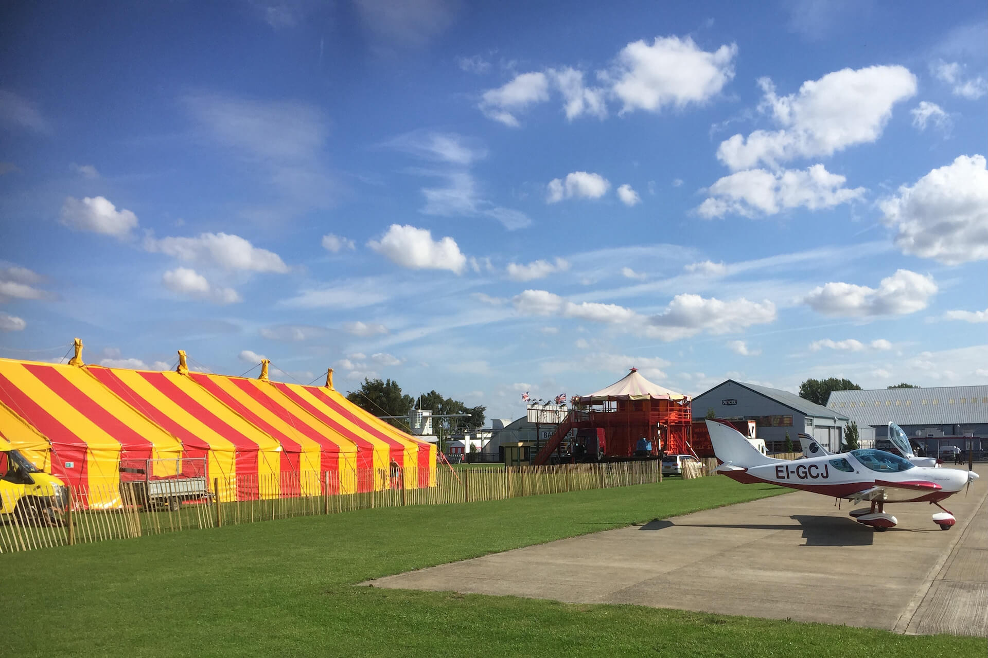 Airshow marquee hire