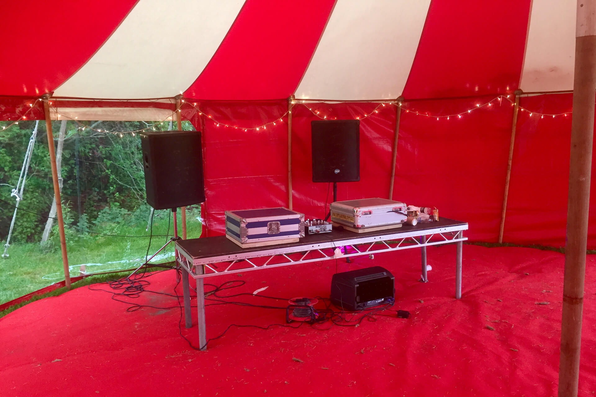 Red & white party marquee