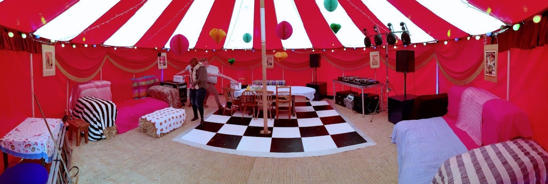 Small party tent in Cornwall