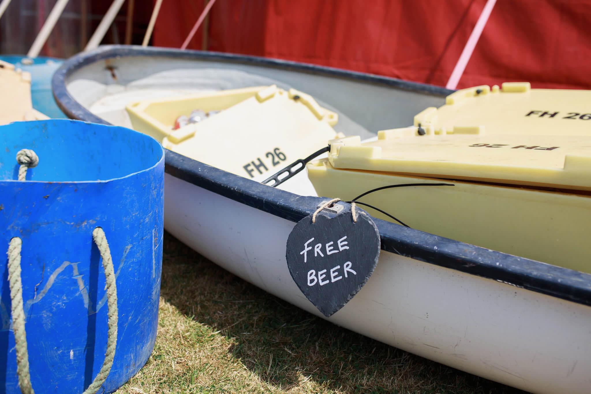 Alternative Cornish wedding props