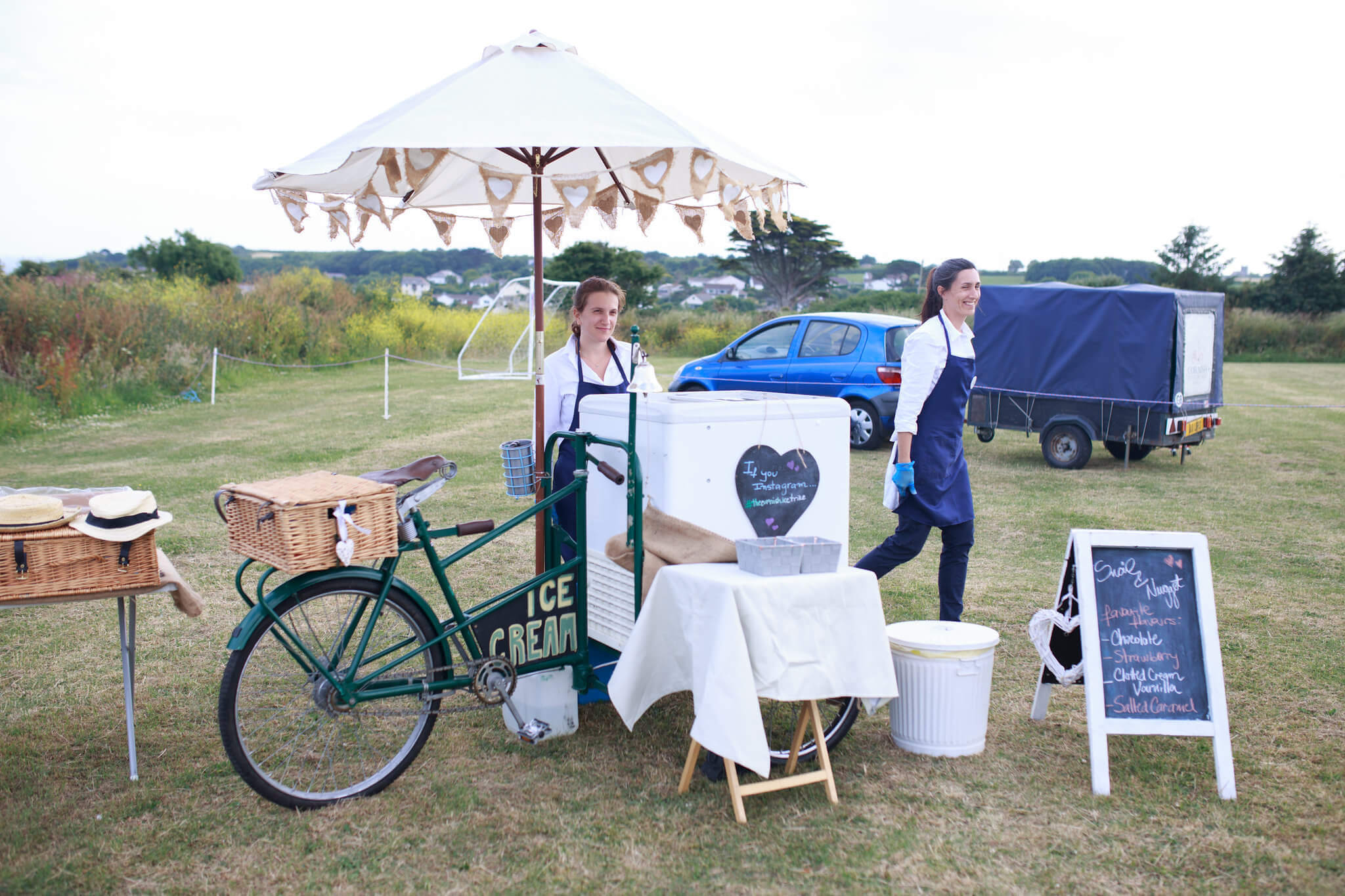 Stop me and buy one ice cream trike hire for wedding