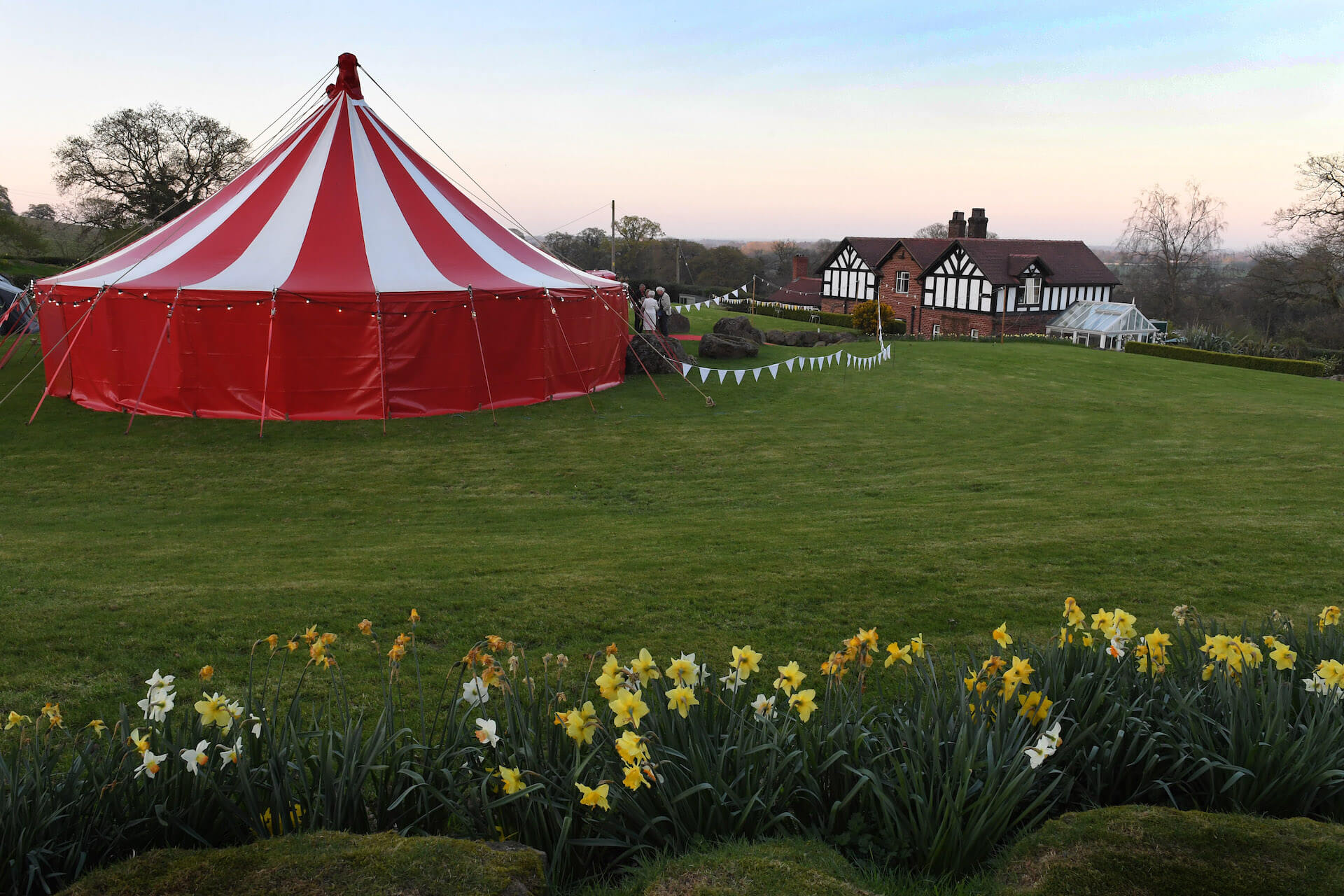 Outdoor marquee wedding in Cheshire