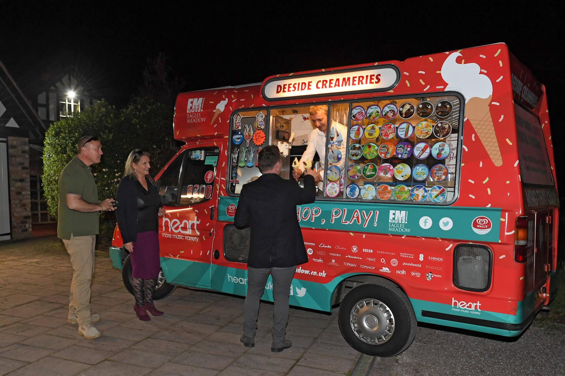 Ice cream van hire at wedding