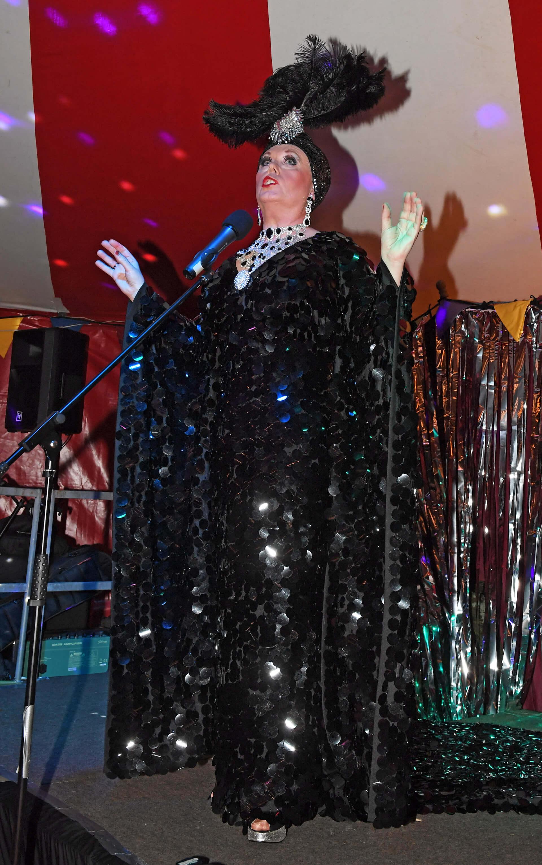 Drag queen entertainer at same-sex wedding