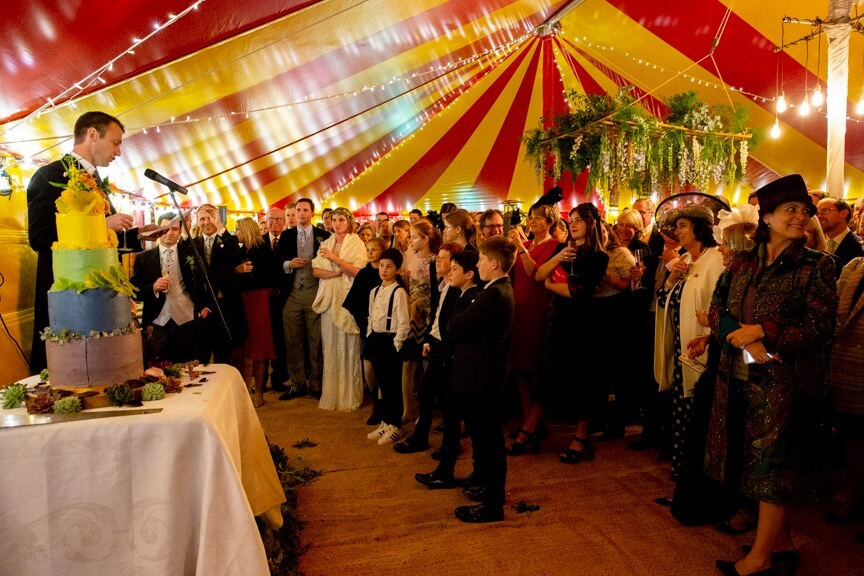 Wedding Speeches in the marquee