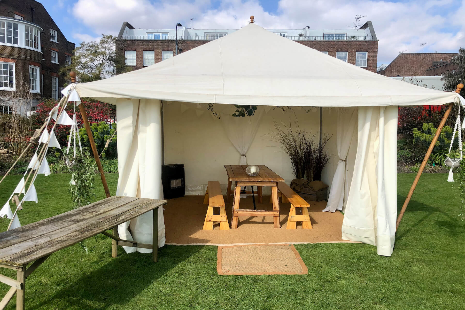 pretty tiny wedding marquee for hire