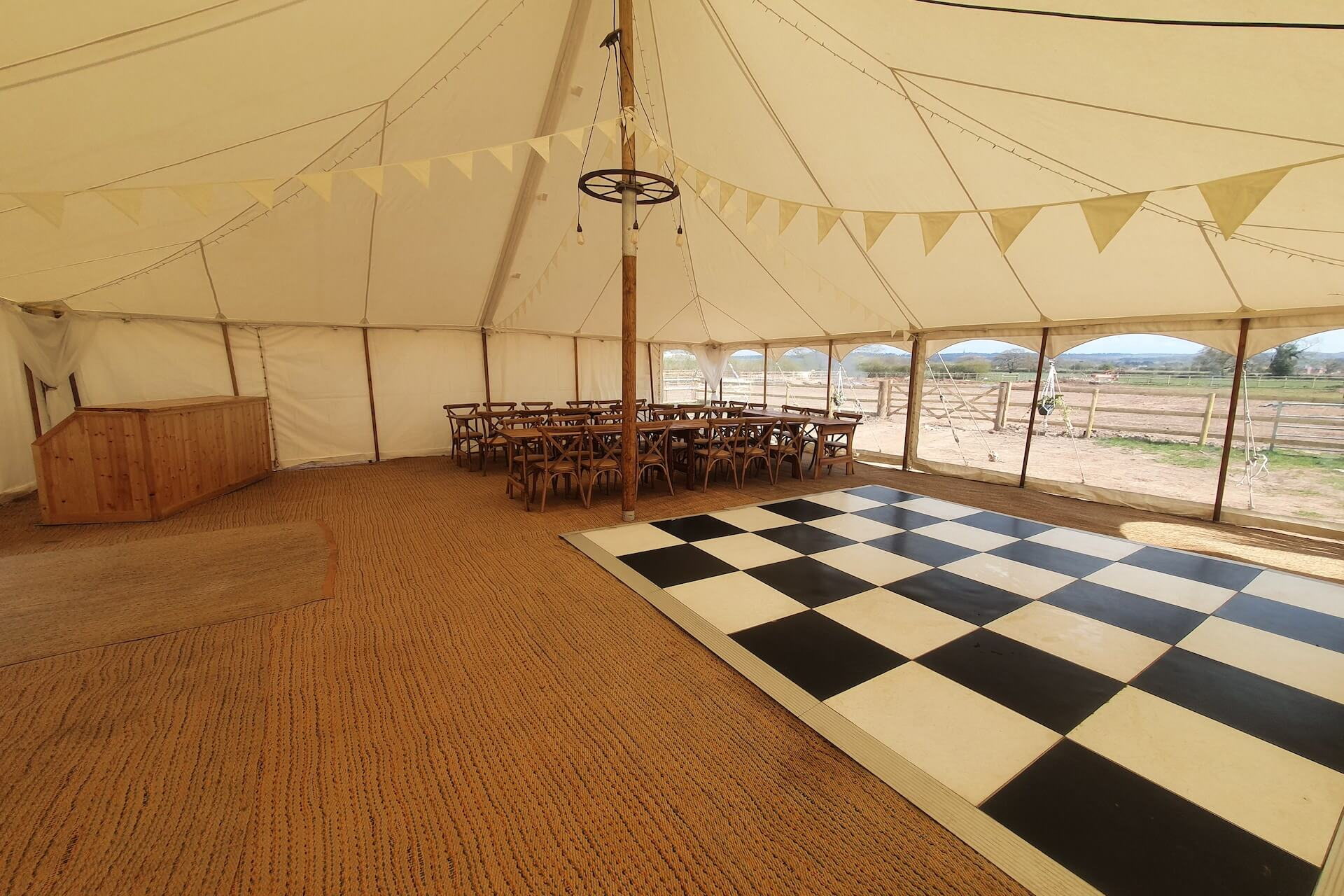 small canvas wedding marquee hire