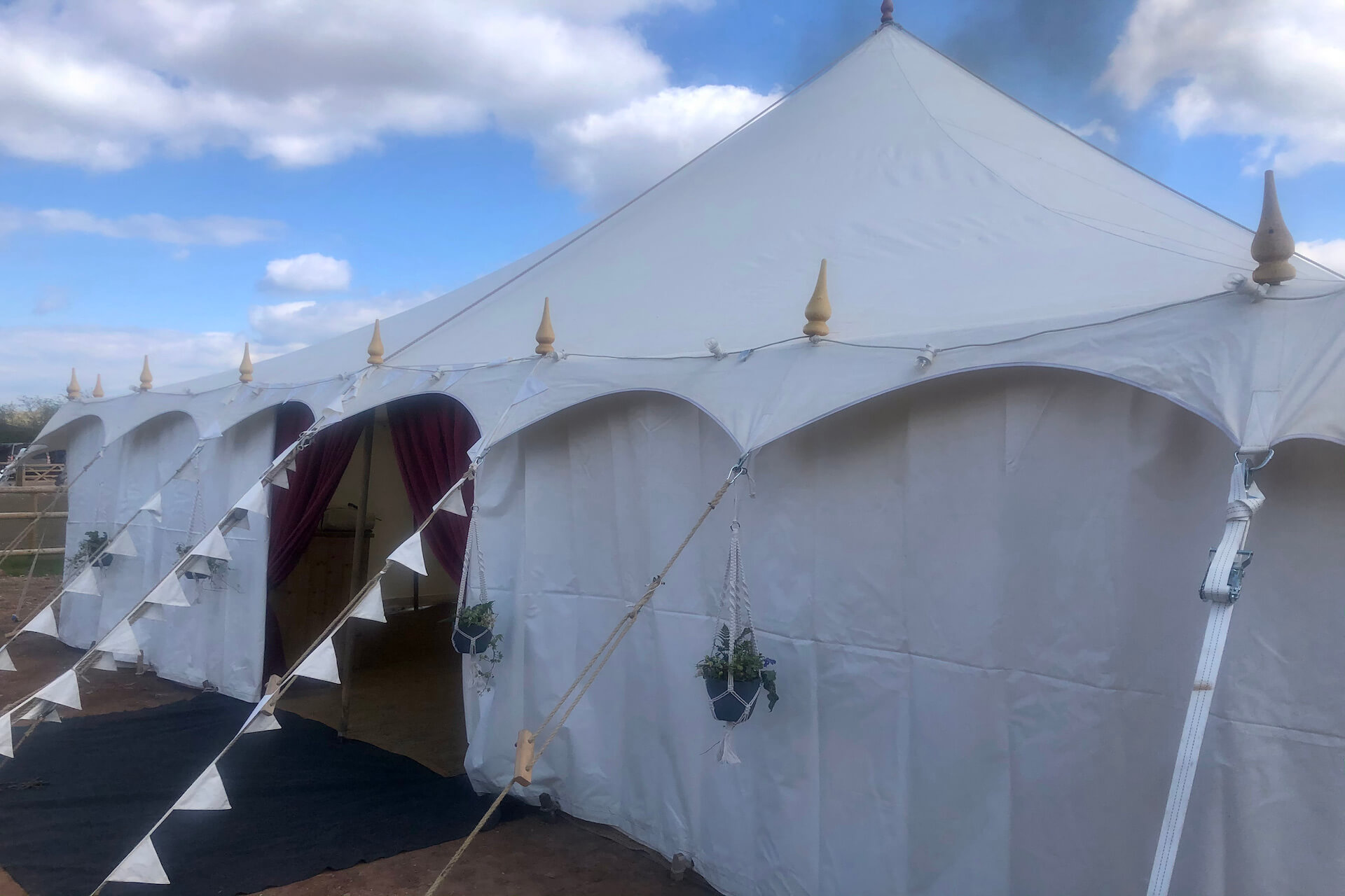 pretty canvas sustainable wedding marquee hire