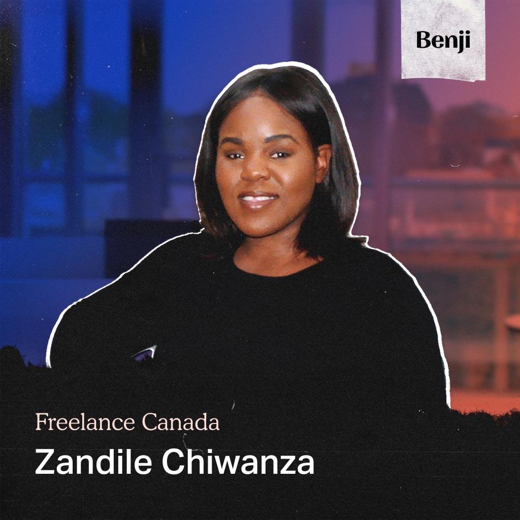 Zandile Chiwanza on the Freelance Canada podcast
