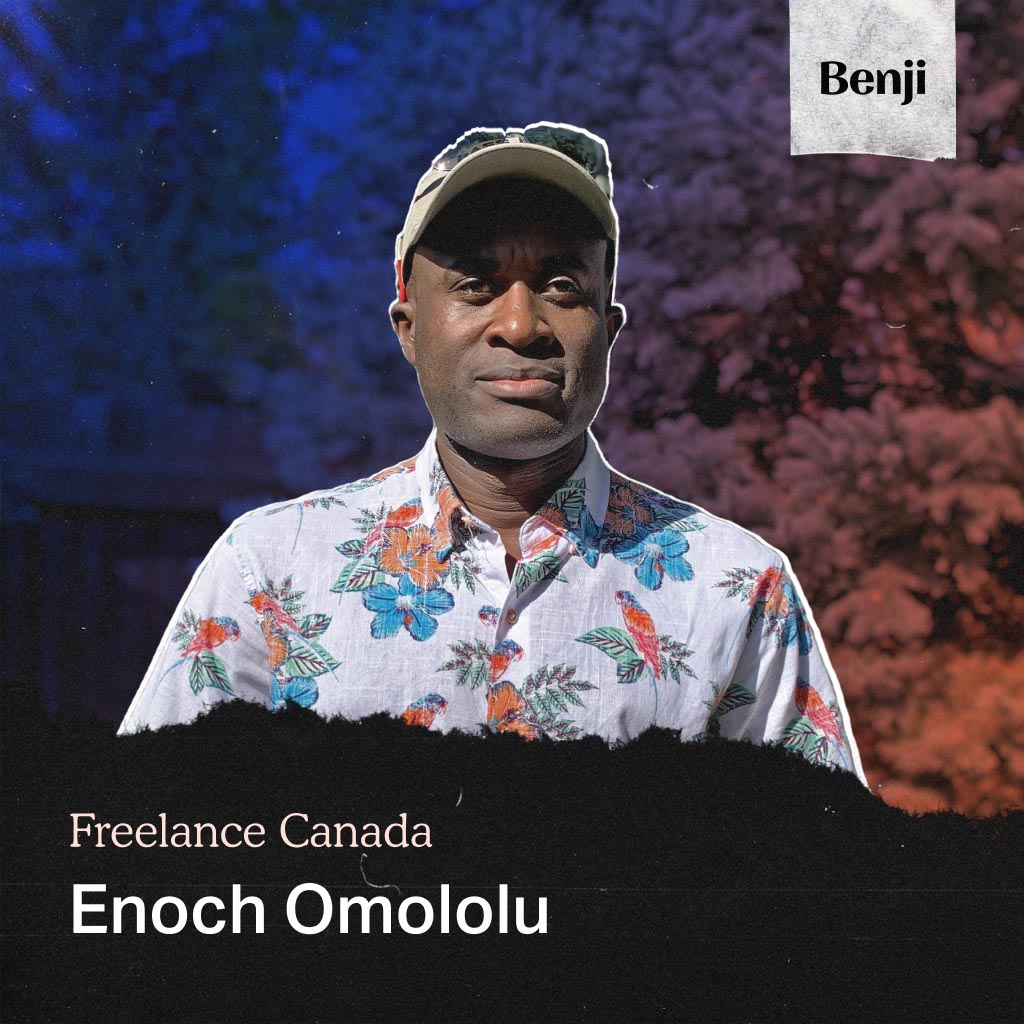 Enoch Omololu on the Freelance Canada podcast