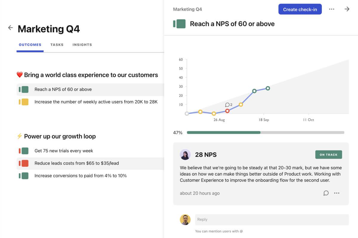 Screenshot of plan insights