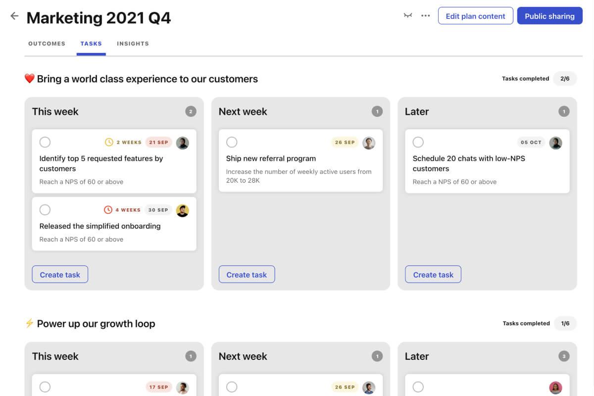 screenshot Tability tasks kanban