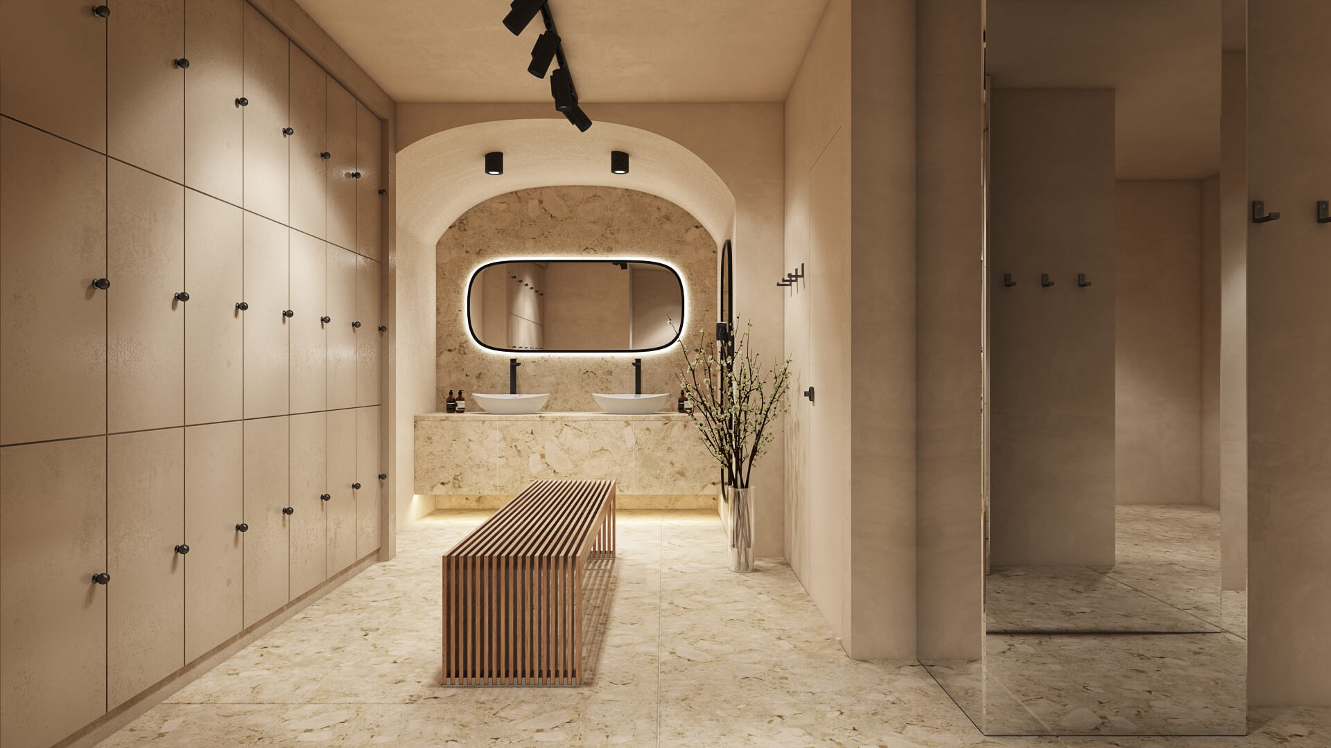 luxurious changing room