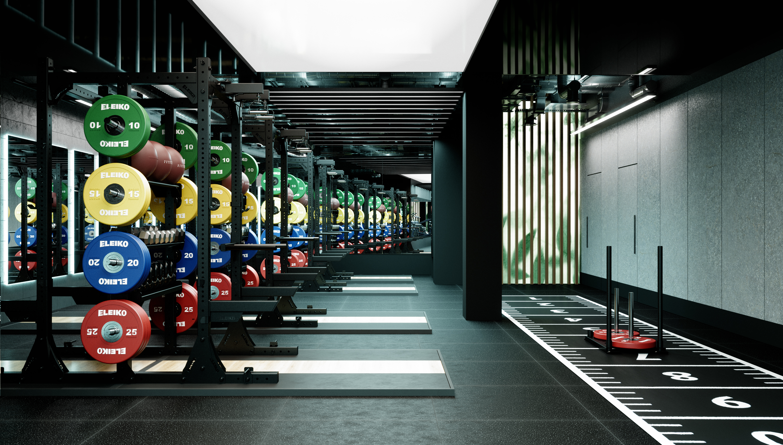 Until stylish personal trainer gym