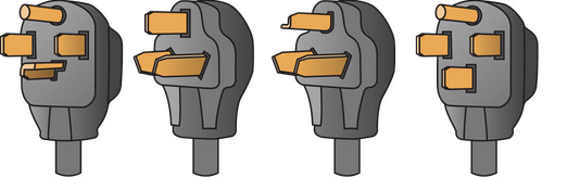 Different NEMA adapters to match with your charger plug