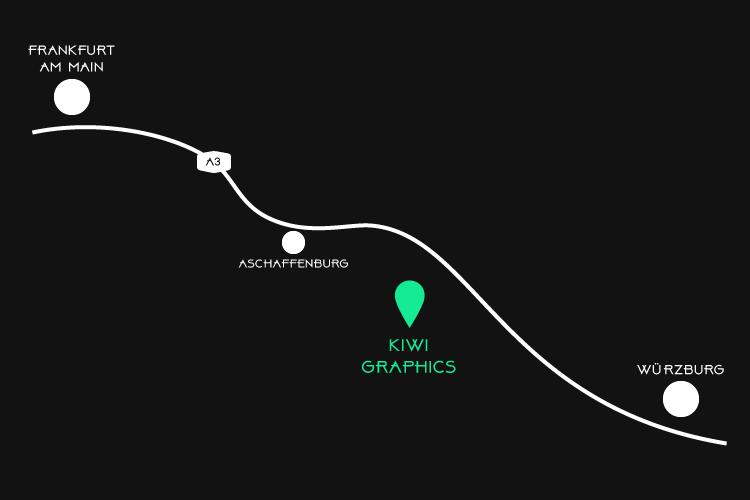kiwi graphics_Anfahrt_Heimbuchenthal_Folientechnik_Folienspezialist