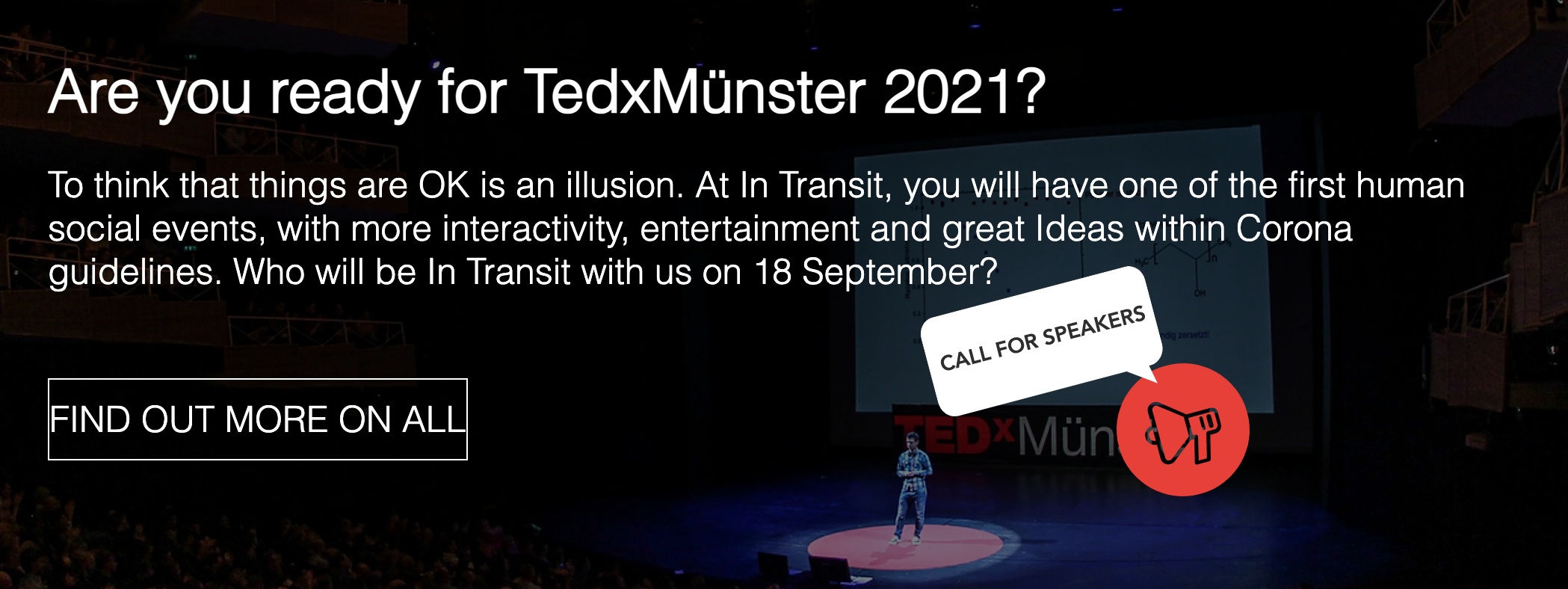 Are you ready for TedxMünster 2021?