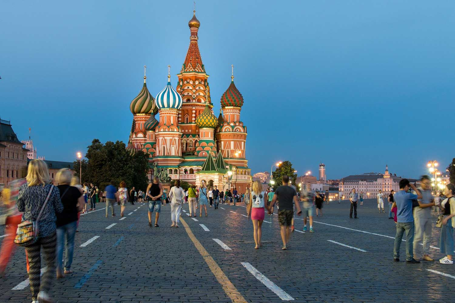 Picture of St Basil's Cathedral in Moscow