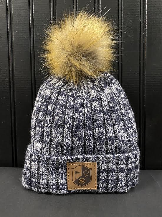 BG&S Fur Pom Hat (Navy Marl)