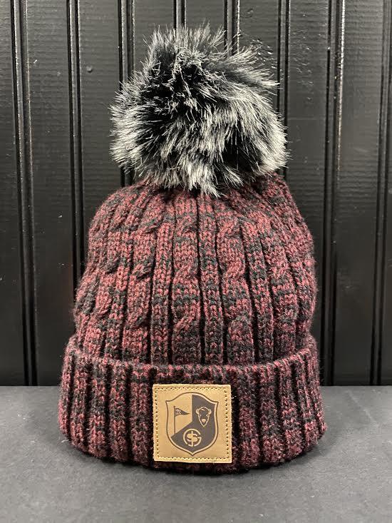 BG&S Fur Pom Hat (Maroon Marl)
