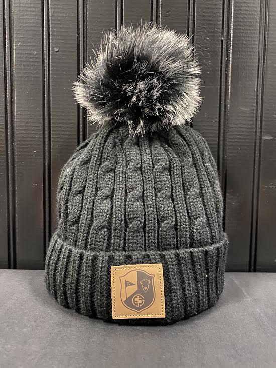 BG&S Fur Pom Hat (Black)