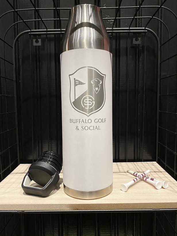 BG&S 25oz Water Bottle (White)