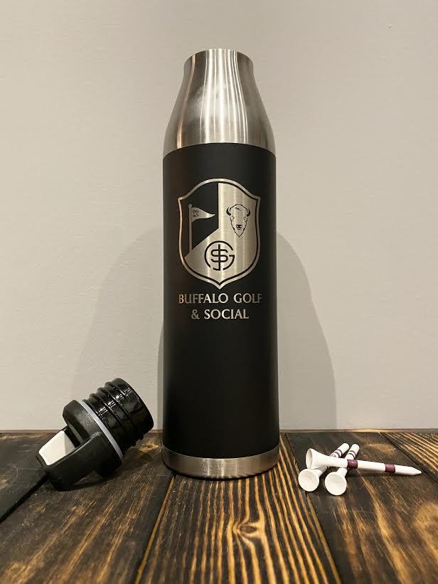 BG&S 25oz Water Bottle (Black)