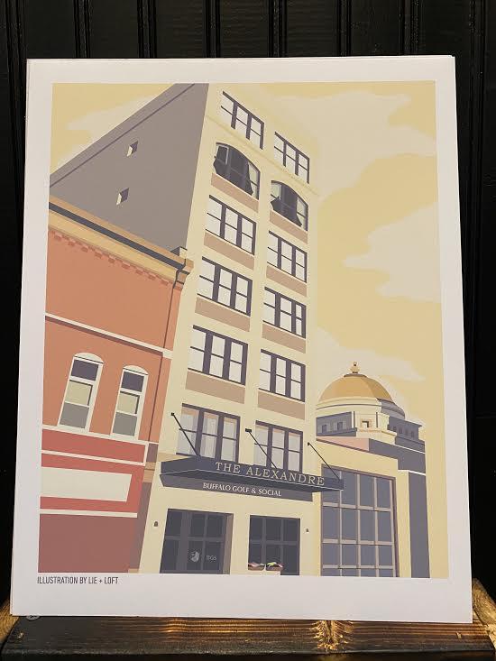 The Alexandre - Buffalo Golf & Social Storefront Print