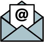 An icon of an envelope to send a team member an email.