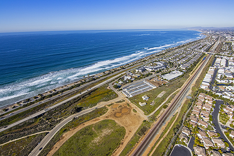 An image of land on Ponto Drive in Carlsbad, California.