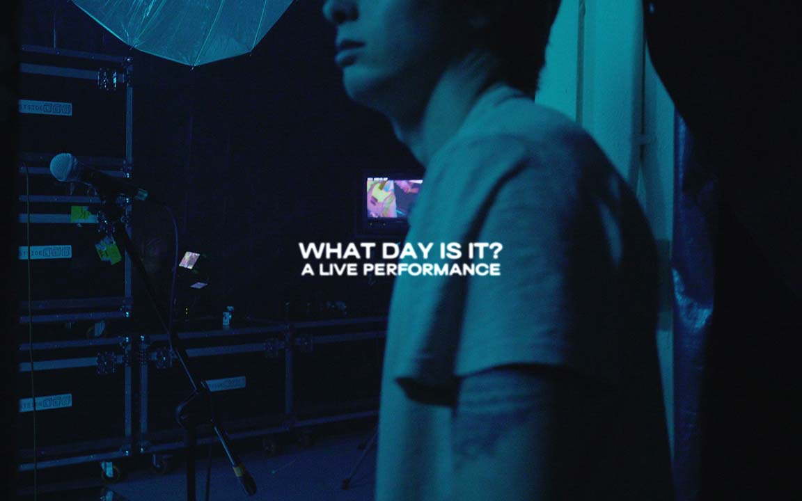 """The opening title to Moontower's """"What Day Is It?"""" live performance music video."""