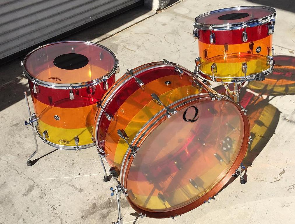 Acrylic-john-bonham-huge-style-shell-How-To-Tune-Your-Drums-Drum-Q-Company-Custom-ilan-Rubin-Nine-inch-nails-Jeremy-berman-Muse-Paris-Qdrum-Recording-Tuning