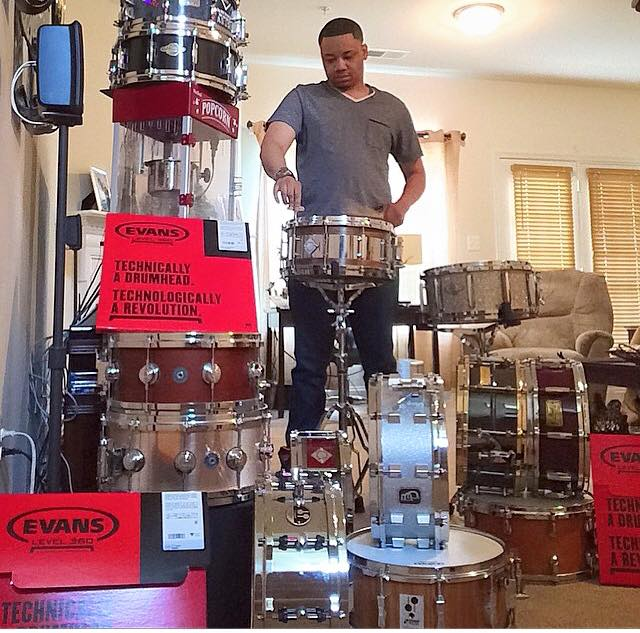 greg-clark-jr-snarky-puppy-washington-dc-drummer-drumming-snare-drum-collection-sonor