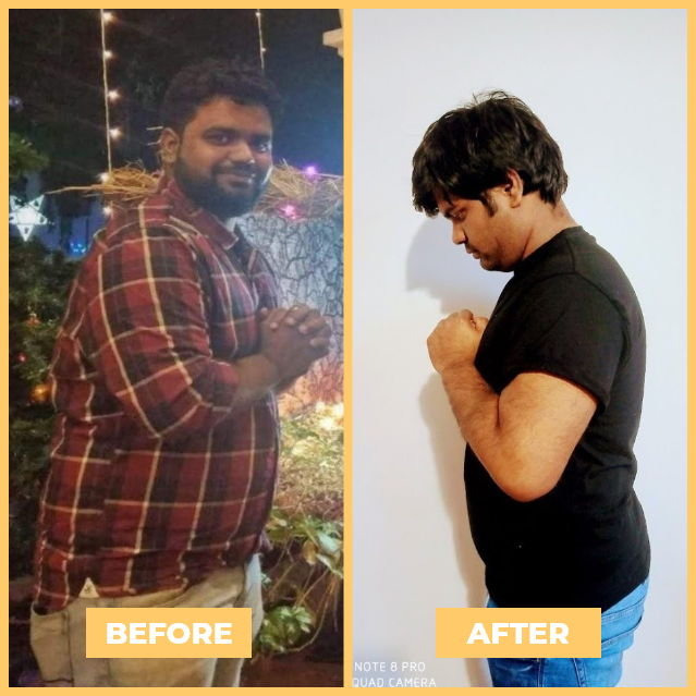 Nishant - Health Transformation - NutriPal - Your personal Dietician